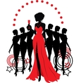 Women group graphic silhouettes Different person vector image vector image