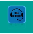 Flat Design Button Call Centrum vector image