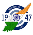 Indian Independence Day label or print with vector image