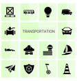 14 transportation icons vector image vector image