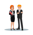a set of business couple symbols of a man and a vector image vector image