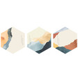 abstract landscape template with japanese wave vector image