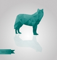 Abstract triangular wolf vector image