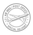 air mail postmark black stamp for envelopes