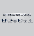 artificial intelligence horizontal banners with vector image