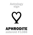 astrology asteroid aphrodite vector image vector image