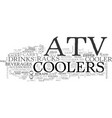 atv coolers on the go text word cloud concept vector image vector image