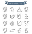 awards line icons vector image vector image