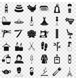 beauty icons set simple style vector image vector image