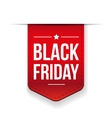 Black Friday ribbon tag vector image vector image