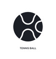 black tennis ball isolated icon simple element vector image vector image