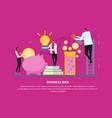 business idea conceptual background vector image vector image