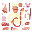 butcher seller character vector image vector image