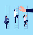 career ladder help business man corporate vector image vector image