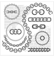 Chains set - icons parts circles of chains vector image