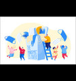 characters celebrate end quarantine pandemic vector image