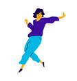 cheerful dancing guy a dancing young man vector image vector image