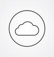 cloud outline symbol dark on white background logo vector image vector image