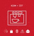 coffee machine coffee maker linear icon vector image