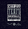College print baseball team vector image vector image