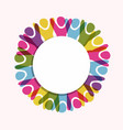 colorful diverse people white circle background vector image vector image