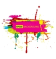 colorful grunge banner with ink splashes vector image