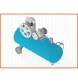 compressor flat 3d vector image vector image