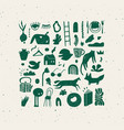 crosshatch design signs green vector image