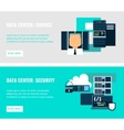 Datacenter Horizontal Flat Banners vector image vector image
