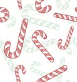 doodle candy canes seamless pattern vector image vector image
