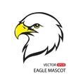 Eagle head mascot vector image vector image