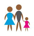 family pictogram father mother and son vector image vector image