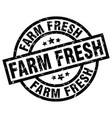 farm fresh round grunge black stamp vector image vector image