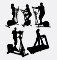 Fitness gymnastic sport male and female silhouette vector image vector image