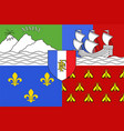 flag of reunion saint-denis vector image vector image
