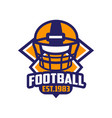 football est 1983 logo template american vector image vector image