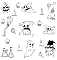 Halloween Element Collection doodle vector image vector image