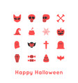 happy halloween greeting card and icon vector image vector image