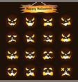 happy halloween - jack olantern expressions vector image