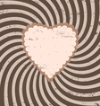 Heart striped background vector image