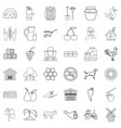household icons set outline style vector image vector image