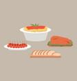 italian cuisine dishes local vector image