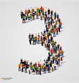 large group of people in number 3 three form vector image vector image