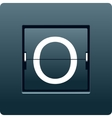 Letter O from mechanical scoreboard vector image