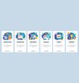 mobile app onboarding screens marketing branding vector image vector image