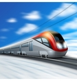 Modern Train In Motion vector image vector image
