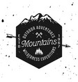 mountains vintage badge emblem label vector image vector image