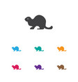 of zoo symbol on beaver icon vector image vector image