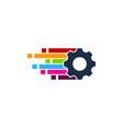 pixel art gear logo icon design vector image