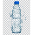 Plastic bottle with mineral water vector image vector image